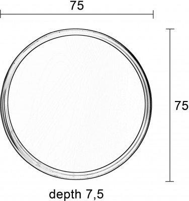 ZILT Ronde Spiegel 'Sal' 75cm, kleur zwart