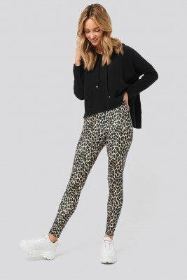 NA-KD NA-KD Leopard Print Leggings - Multicolor