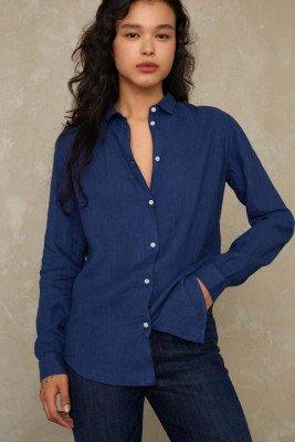 Kings of indigo Kings of Indigo - TAJA shirt long sleeve Female - Darkblue