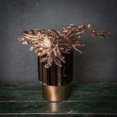 Firawonen.nl PTMD leaves plant goud glanzend split philo steel
