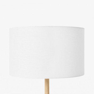 MADE.COM Brisa lampenkap van 100% linnen, 40 cm, wit