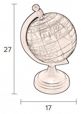 Dutchbone Dutchbone Wereldbol 'Globe' 27cm