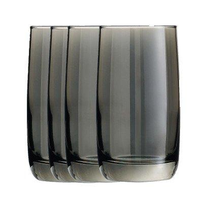Xenos Waterglazen grijs - 33 cl - set van 4
