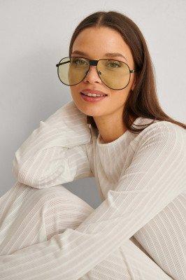 NA-KD Accessories NA-KD Accessories Oversize Pilot Sunglasses - Green
