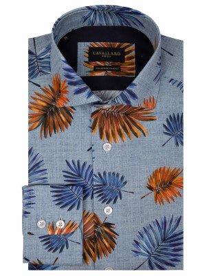 Cavallaro Napoli Cavallaro Napoli Heren Overhemd - Davide Overhemd - Blauw