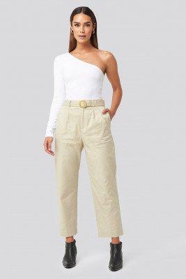 Mango MANGO Mire Trousers - Beige