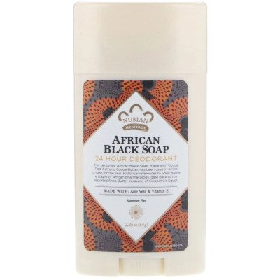 24 Hour Deodorant, African Black Soap (64 g) Nubian Heritage
