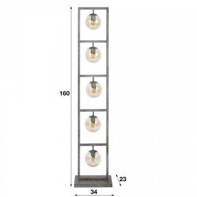 LifestyleFurn Vloerlamp 'Ferry' 5-lamps, Ø15cm