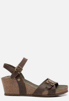 Panama Jack Panama Jack Valentine Basics B4 sandalen met sleehak groen