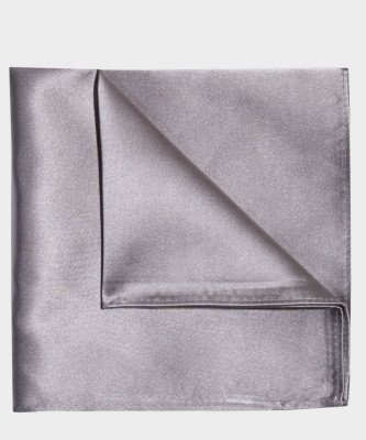 Michaelis Michaelis heren zijden pochet zilver