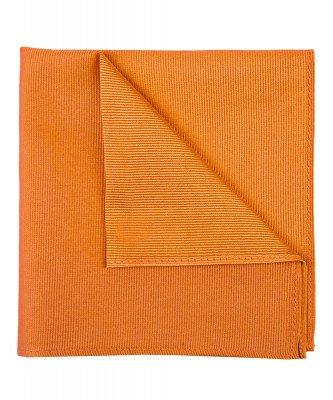 Profuomo Profuomo heren oranje uni zijden pochet
