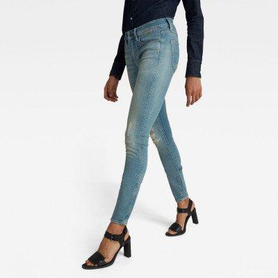G-Star RAW 3301 Mid Skinny Jeans - Lichtblauw - Dames
