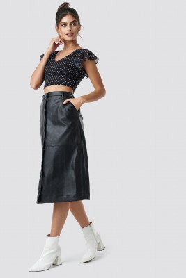NA-KD Trend NA-KD Trend PU Midi Skirt - Black