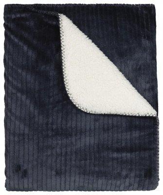 HEMA Plaid Rib 130x150 - Sherpa - Blauw (blauw)
