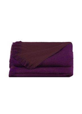 Alpaca Loca Double Plaid Violet / Chocolate Brown