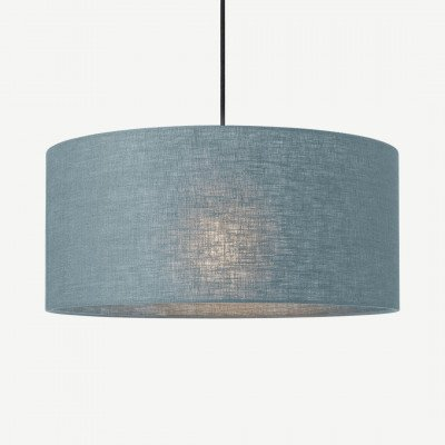 MADE.COM Porto lampenkap van linnen, 45 x 20cm, donkerturkoois