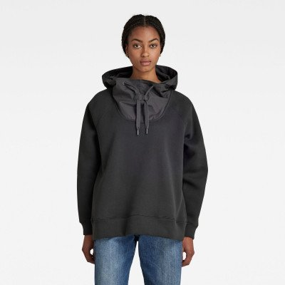 G-Star RAW Mix Graphic Loose Hooded Capuchon - Grijs - Dames