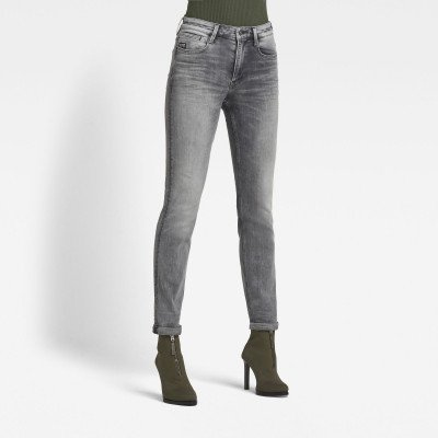 G-Star RAW Noxer High Straight Jeans - Grijs - Dames