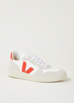 Veja Veja V10 sneaker met suède details