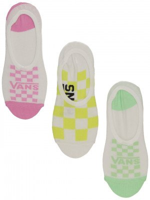 Vans Vans Rainy Day Check Canoodle 6.5-10 3Pk Socks patroon