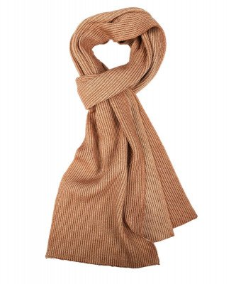 Profuomo Profuomo heren camel knitted sjaal