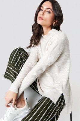 Trendyol Trendyol Vertical Collar Sweater - Beige