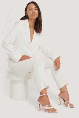 NA-KD Classic Getailleerde Blazer - White