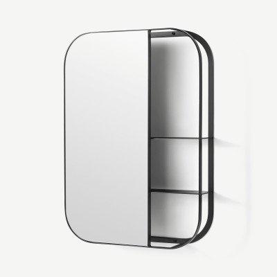 MADE.COM Stria spiegel met plank