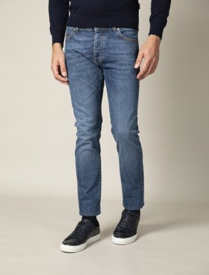 Cavallaro Napoli Cavallaro Napoli Heren Jeans - Fresco Denim Jeans - Blauw