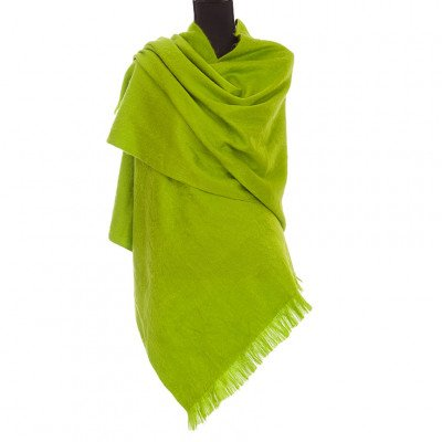 EcuaFina Alpaca sjaal of omslagdoek - Lime Groen - EcuaFina - Tip2021