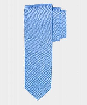 Michaelis Michaelis heren smalle zijden stropdas blauw