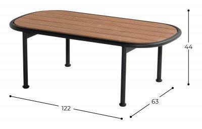Hartman Hartman Loungetafel 'Stacey' Teakhout, 122 x 63cm