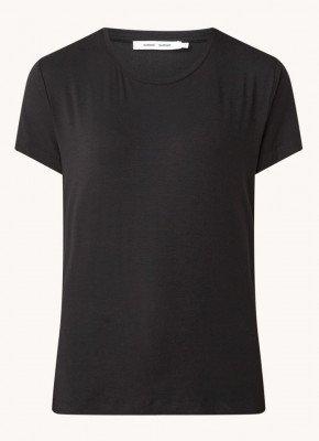 Samsøe en Samsøe Samsøe & Samsøe Siff T-shirt in zijdeblend