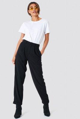 NA-KD Trend NA-KD Trend High Waist Wide Leg Pants - Black