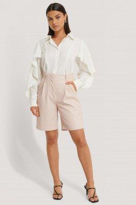NA-KD Boho NA-KD Boho Shirt Met Geschulpte Details - White