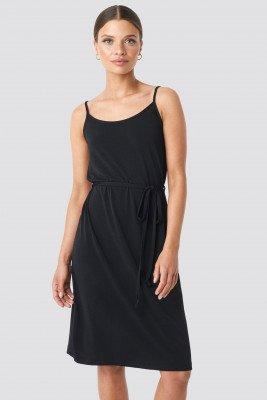 NA-KD NA-KD Wrap Detail Strap Dress - Black