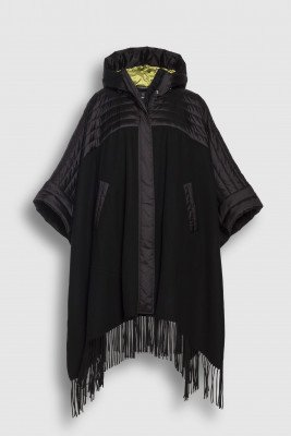 Creenstone Creenstone Combi cape with fringes - Black