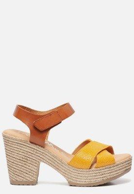 OH MY SANDALS OH MY SANDALS Sandalen met hak geel