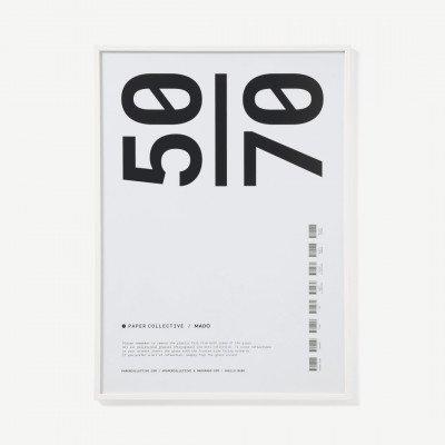MADE.COM Paper Collective, posterlijst, 50 x 70 cm, wit eiken
