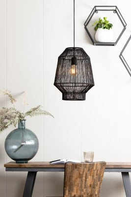 Light en Living Light & Living Hanglamp 'Vitora' 30cm, mat zwart