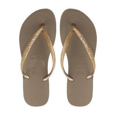 Havaianas Havaianas Slim Glitter Goud Damesslippers