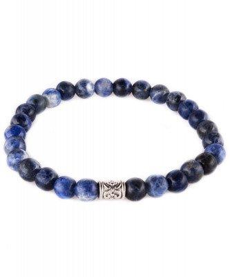Profuomo Profuomo heren blauwe sodaliet armband