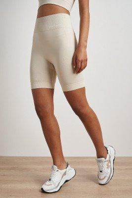 nu-in High Waist Cycling Shorts / XS / Beige