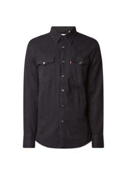 Levi's Levi's Barstow regular fit overhemd van denim met klepzakken