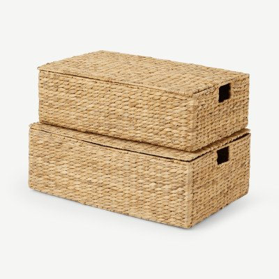 MADE.COM Dae set van 2 opbergkoffers voor onder het bed