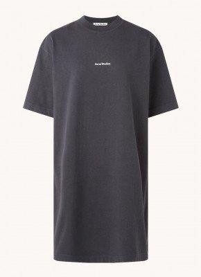 Acne Studios Acne Studios Erin oversized T-shirt jurk met logoprint