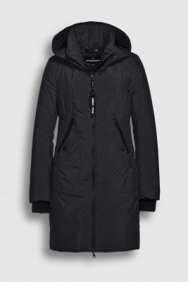 Creenstone Creenstone Technical coat with smocked details - Night Blue
