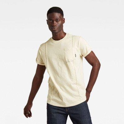 G-Star RAW Lash Pocket Back Graphic T-Shirt - Beige - Heren