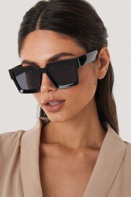 NA-KD Accessories NA-KD Accessories Big Squared Edge Sunglasses - Black