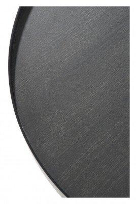 J-Line J-Line Ronde Bijzettafel 'Clemence' Medium, kleur Zwart, Ø60,5cm